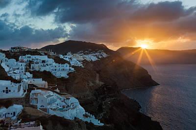 Photograph - Santorini Dawn by Brian Grzelewski