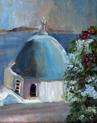 Santorini Greece Art Print by Michael Helfen