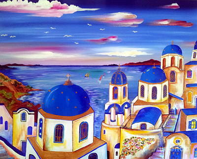 Santorini Is My Dream Art Print