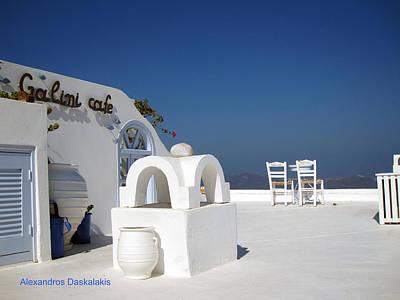 Table Wine Photograph - Santorini Island by Alexandros Daskalakis
