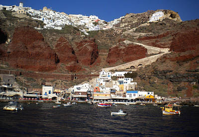 Santorini  Island  View To Oia Greece Art Print