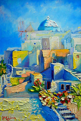 Summer Isles Painting - Santorini Light by Ana Maria Edulescu