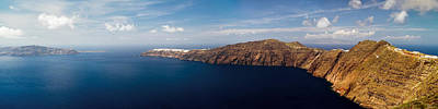 Photograph - Santorini Panorama by Gary Eason