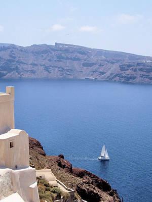 Photograph - Santorini Sail by Jenny Hudson