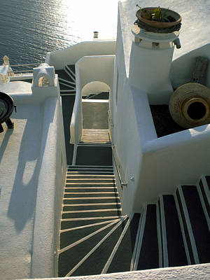 Art Print featuring the photograph Santorini Stairs by Colette V Hera  Guggenheim