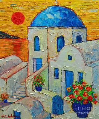 Santorini Sunset Original