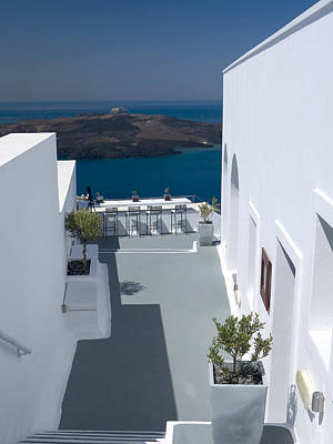 Photograph - Santorini Terrace by Brenda Kean