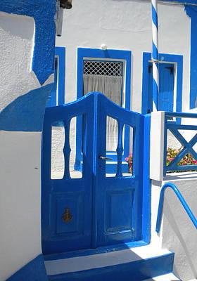 Art Print featuring the photograph Santorini Thirasia Island  by Colette V Hera  Guggenheim