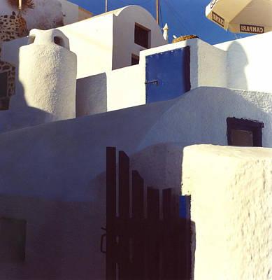 Santorini White Art Print by Andrea Simon
