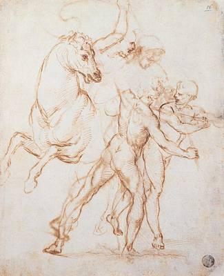 Sanzio Raffaello, A Warrior Riding Art Print by Everett