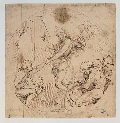 Sanzio Raffaello, Christ In The Limbo Print by Everett
