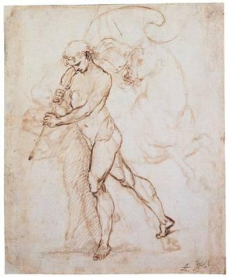 On Paper Photograph - Sanzio Raffaello, Flagman, 1505, 16th by Everett
