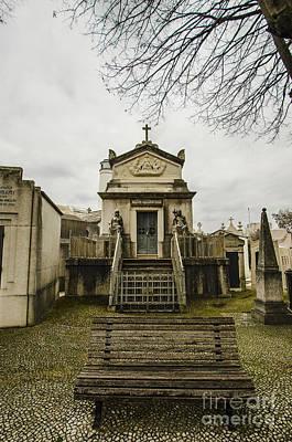 Photograph - Sao Joao Cemetery Bench by Deborah Smolinske
