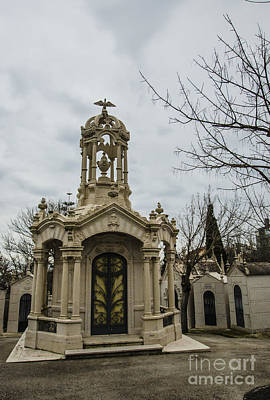 Photograph - Sao Joao Cemetery Graceful Mausoleum by Deborah Smolinske