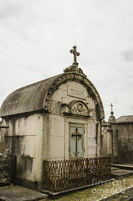 Photograph - Sao Joao Cemetery Mausoleum by Deborah Smolinske