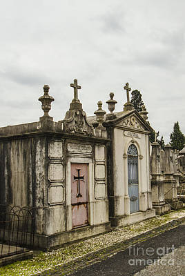 Photograph - Sao Joao Cemetery Mausoleum Pair by Deborah Smolinske