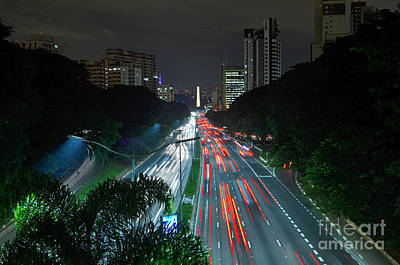 Photograph - Sao Paulo - 23 De Maio Expressway And Ibirapuera Obelisk - All by Carlos Alkmin