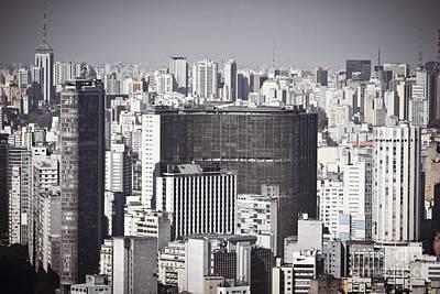 Photograph - Sao Paulo - Aerial View by Ricardo Lisboa