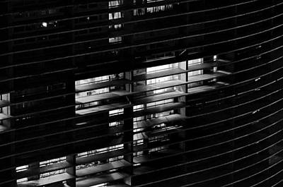 Photograph - Sao Paulo - Brazil - Detail Of Copan Building By Night by Carlos Alkmin