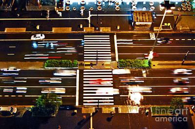 Photograph - Sao Paulo - Busy Traffic - Paulista Avenue by Carlos Alkmin