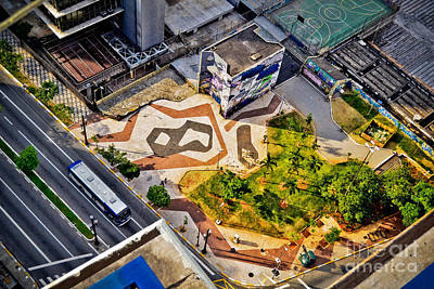 Sao Paulo Downtown - Geometry Of Public Spaces Art Print