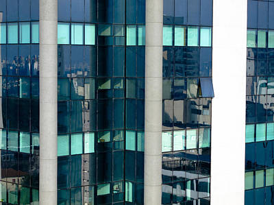 Sao Paulo Glass Building Art Print by Julie Niemela