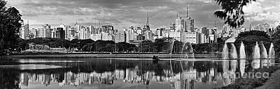 Photograph - Sao Paulo - Ibirapuera Lake And Paulista Skyline by Carlos Alkmin