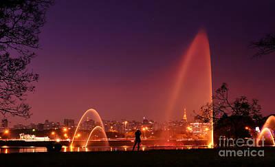 Photograph - Sao Paulo - Ibirapuera Park At Dusk - Contemplation by Carlos Alkmin