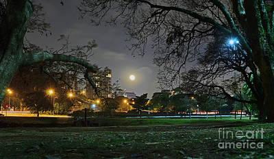 Photograph - Sao Paulo - Ibirapuera Park At Night Under Moonlit by Carlos Alkmin
