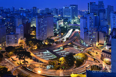 Photograph - Sao Paulo Skyline - Downtown by Carlos Alkmin