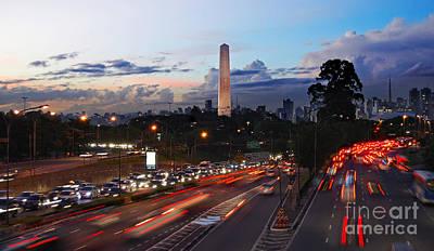 Photograph - Sao Paulo Skyline - Ibirapuera by Carlos Alkmin
