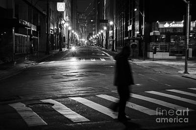 Photograph - Sao Paulo Street At Night by Ricardo Lisboa