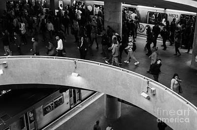 Photograph - Sao Paulo Subway by Ricardo Lisboa