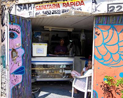 Photograph - Sapataria Rapida Sao Paulo by Julie Niemela