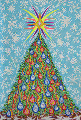 Painting - Sapin Noel by Robert SORENSEN