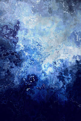 Sapphire Dream - Abstract Art Art Print