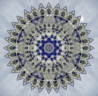 Photograph - Sapphire Mandala by Deborah Smith