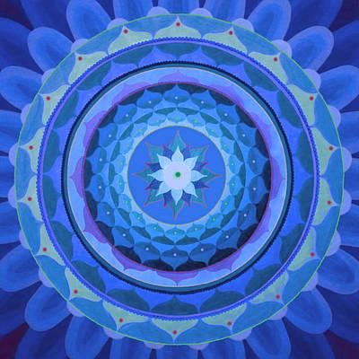 Sapphire Mandala Art Print by Vlatka Kelc