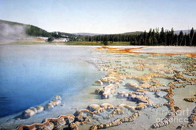 Photograph - Sapphire Pool Yellowstone National Park by NPS Photo Detroit Photographic Co