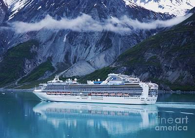 Bay Photograph - Sapphire Princess In Alaska by Marcus Dagan