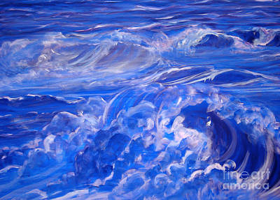 Painting - Sapphire Sea by Heather  Hiland