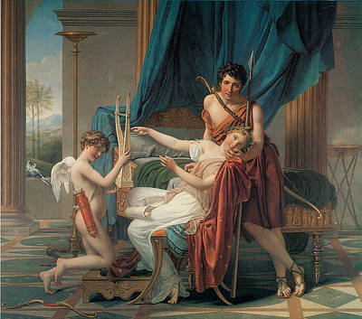 Sappho And Phaon Art Print