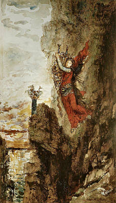 Lefkada Painting - Sappho In Lefkada by Gustave Moreau