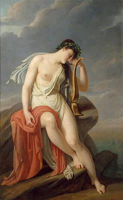 Sappho On The Leucadian Cliff Art Print