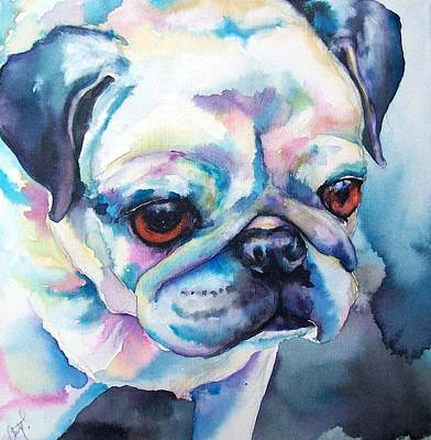 Fawn Pug Painting - Sara by Christy  Freeman