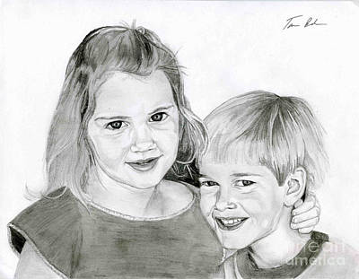 Drawing - Sarah And Matt by Tamir Barkan