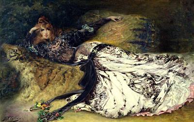 Sarah Bernhardt  Art Print by Georges Clairin