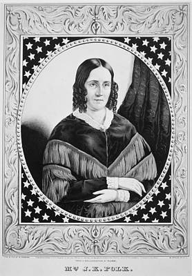 America First Party Painting - Sarah Childress Polk (1803-1891) by Granger
