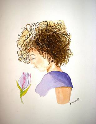 Sarah Art Print by June Holwell