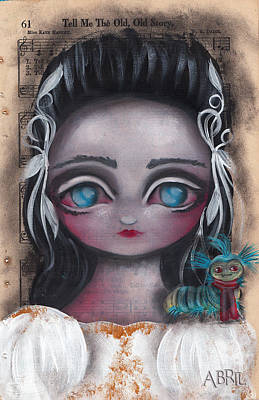 Pop Surrealism Painting - Sarah Labyrinth  by Abril Andrade Griffith